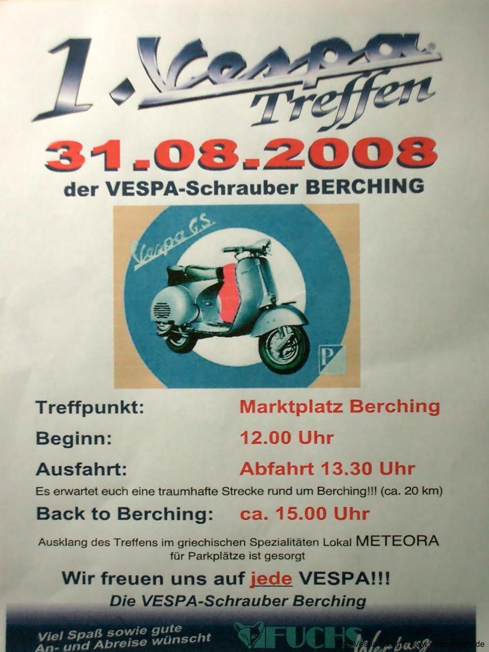 Vespa Treffen 31.8.08 Berching