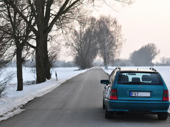 Benz hinten