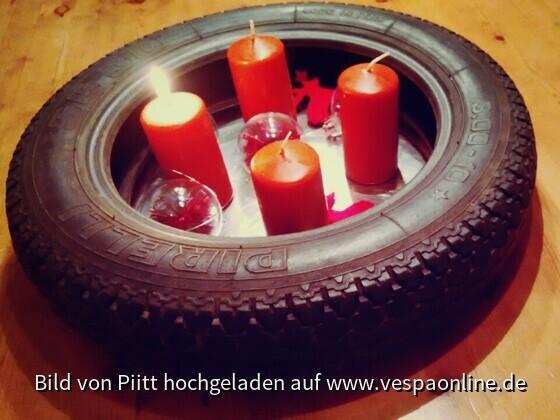 Adventskranz für Männer (Vespafahrer)