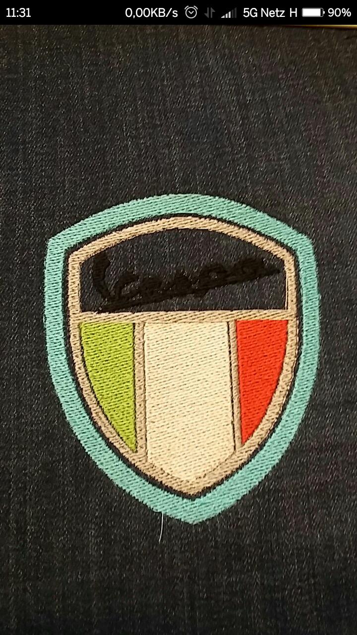 Neue Vespa Stickerei !