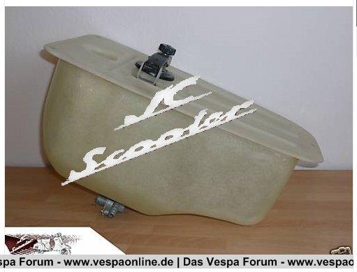 Vespa V50/PV/ET3 Tank aus GFK (Kein Rost mehr)