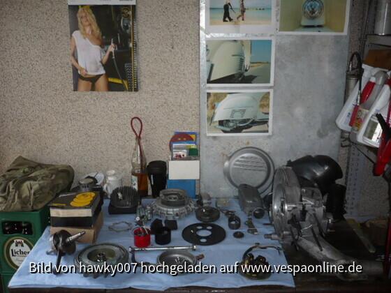 Motor nach der Reinigung und Umbau auf 135ccm