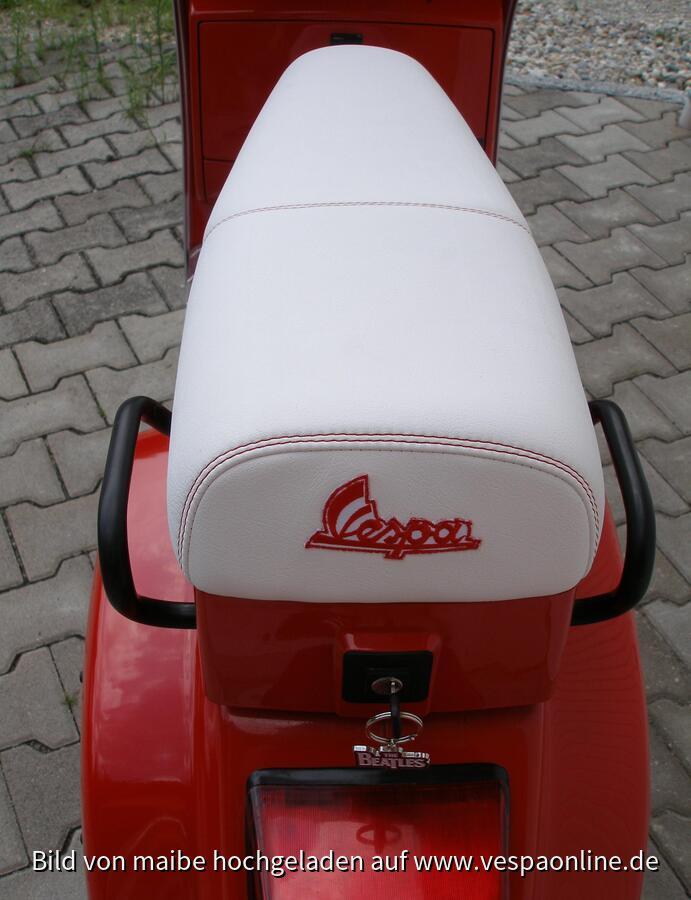 Weißer Ledersitz
