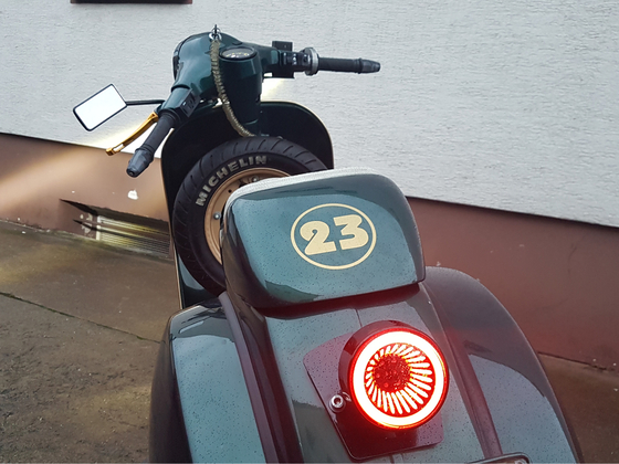 Vespa P150X Custom LED