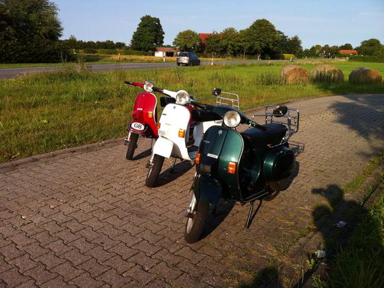 Vespa-Tricolore in Ostfriesland 28.07.12