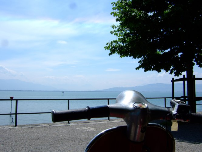 Päuschen am Bodensee (auf Tour von Garmisch nach Freiburg :-) )