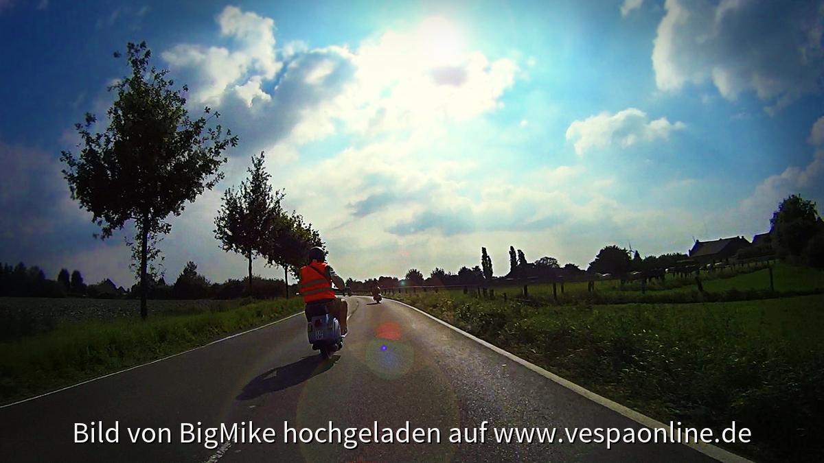1. Vespa Treffen des VTC Kempen - Ausfahrt