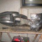 V50 vorm einschweißen des Reparaturblechs