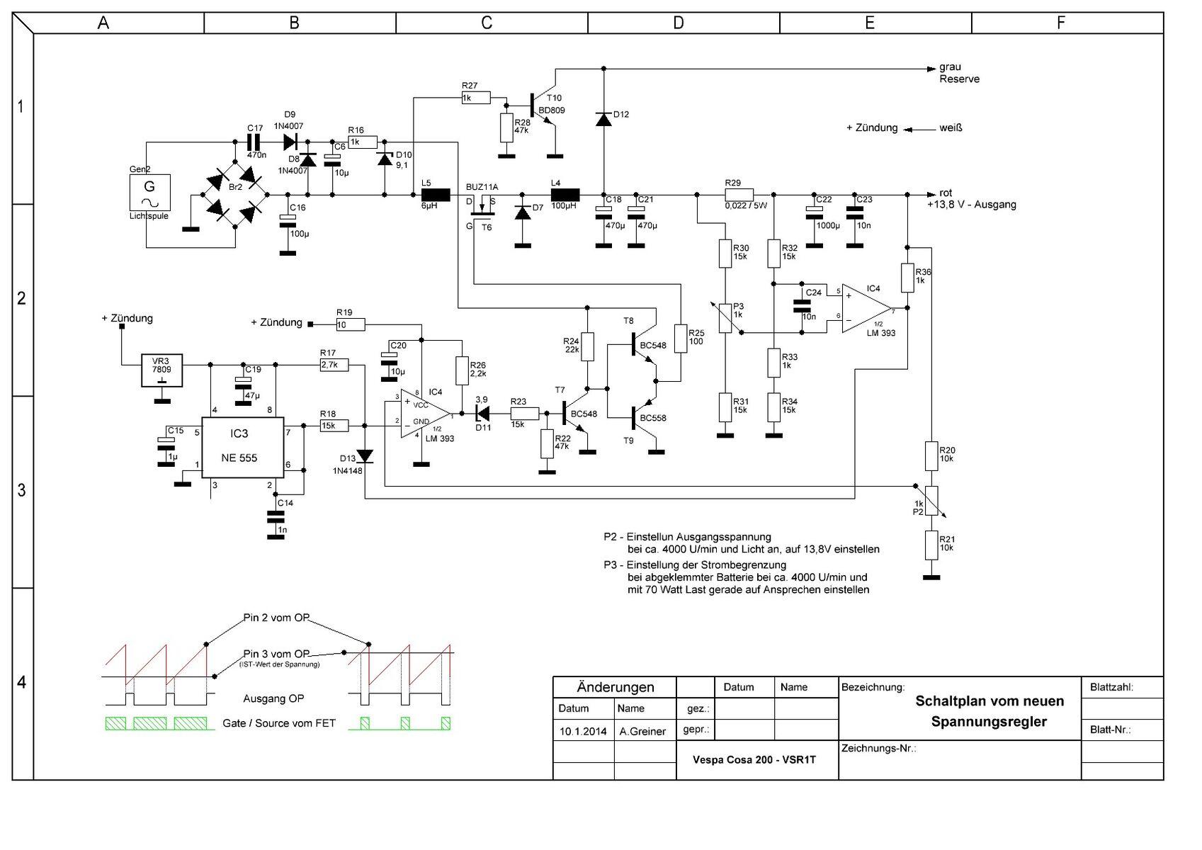 Fantastisch Delco Spannungsregler Schaltplan Fotos - Der Schaltplan ...