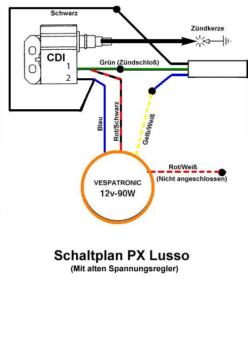 Ungewöhnlich Motorrad Cdi Zündung Schaltplan Ideen - Der Schaltplan ...
